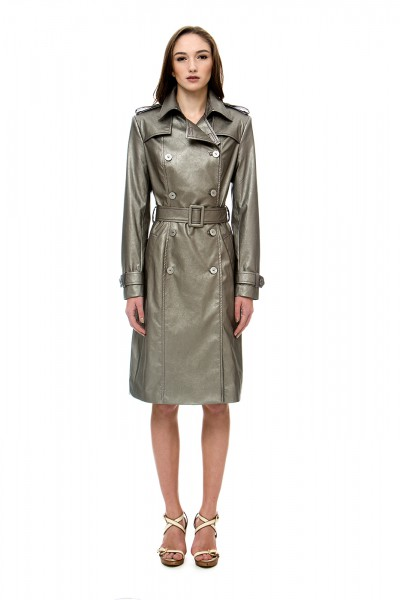 Bronze trench coat