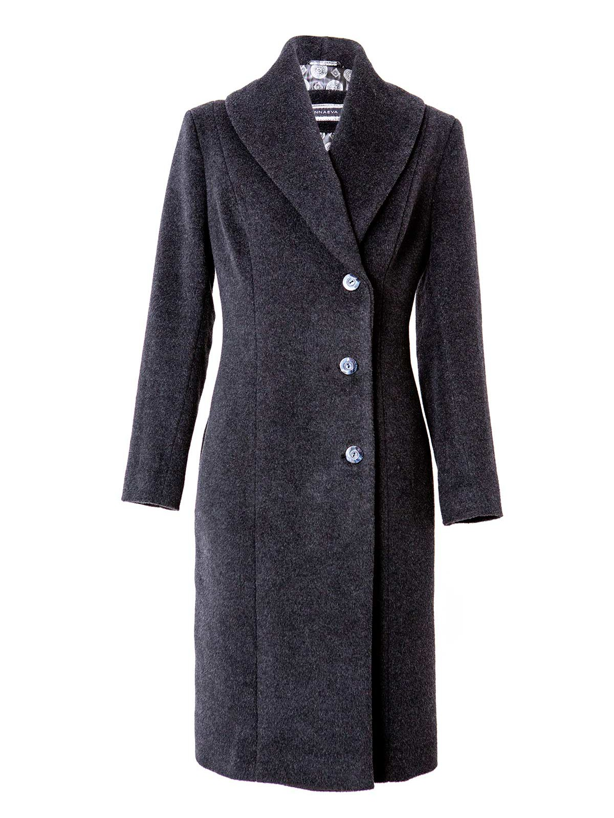 Angora wool winter coat