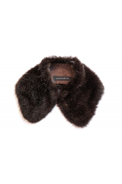 Brown fur collar