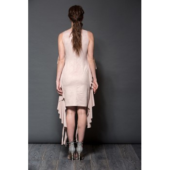 Frilled and fringed dress