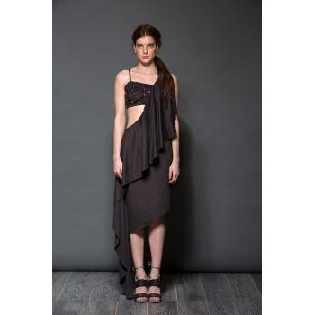Long asymmetric dress