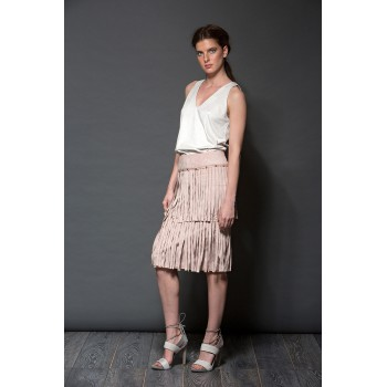 Fringed skirt