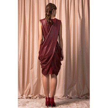 Bordeaux midi dress